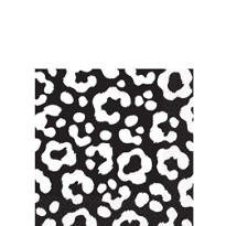 Black Cheetah Print Beverage Napkins 16ct