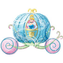 Foil Carriage Cinderella Balloon 38in