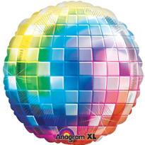 Foil Rainbow Disco Ball Balloon 31in
