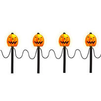 Light-Up Pumpkin Garden Stakes 4ct