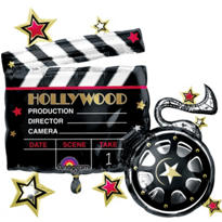 Foil Hollywood Clapboard Balloon 29in