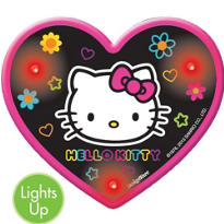 Light-Up Neon Hello Kitty Button