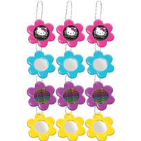 Neon Hello Kitty Flower Mirror Key Chains 12ct