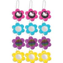 Neon Hello Kitty Flower Mirror Key Chains 12ct