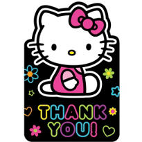 Rainbow Hello Kitty Thank You Notes 8ct