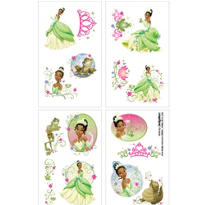 Princess and the Frog Tattoos 1 Sheet