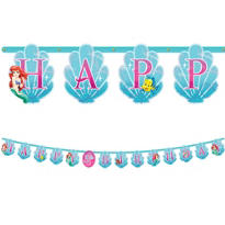 Add an Age Little Mermaid Letter Banner 10ft