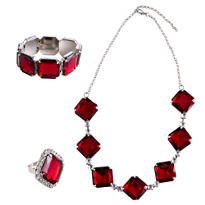 20s Ruby Jewelry Set