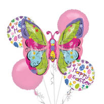 Foil Whimsical Butterfly Balloon Bouquet 5pc