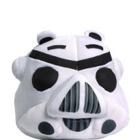Clip-On Stormtrooper Angry Birds Plush