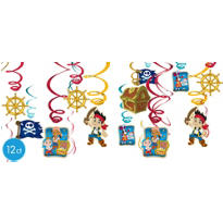 Jake and the Never Land Pirates Swirl Decorations 12ct