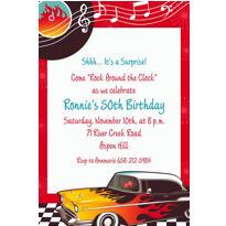 Classic '50s Custom Invitation