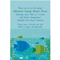 Cool Sea Custom Invitation