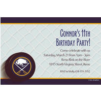Buffalo Sabres Custom Invitation