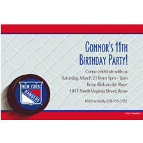 New York Rangers Custom Invitation