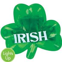 Light-Up Irish Shamrock Pin