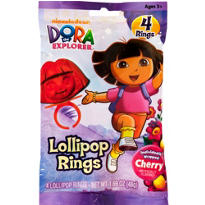 Dora the Explorer Candy Rings 4ct