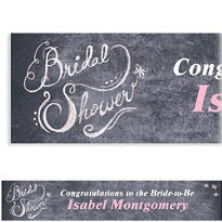 Chalkboard Custom Bridal Shower Banner
