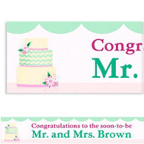 Modern Wedding Cake Custom Wedding Banner