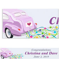 Custom Just Wed Buggy Wedding Banner 6ft