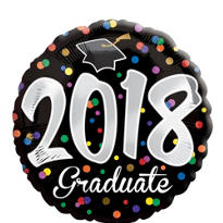 Graduation Balloon - Confetti