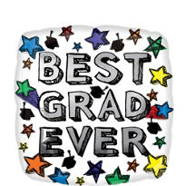 Foil Best Ever Graduation Balloon 18in