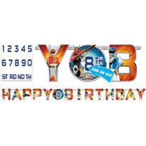 Power Rangers Megaforce Birthday Banner