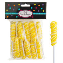 Yellow Twisty Pops 20pc