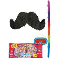 Moustache Pinata Kit