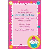 Cupcake Party Custom Invitation