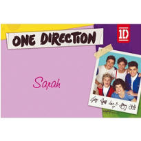 One Direction Custom Thank You Note