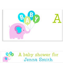 Animals with Boy Balloons Custom Banner