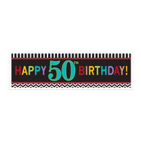 Celebrate 50th Birthday Banner 65in