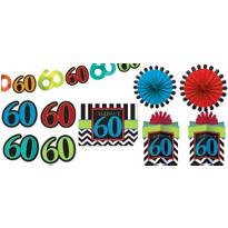 Celebrate 60th Birthday Room Decorating Kit 10pc
