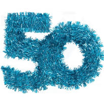 The Party Continues 50th Birthday Tinsel Decoration