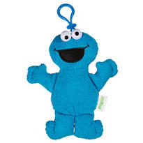Clip-On Sesame Street Cookie Monster Plush