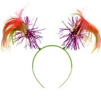 Black Light Neon Ponytail Headband