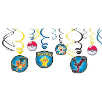 Pokemon Swirl Decorations 12ct