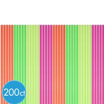 Neon Cocktail Straws 200ct
