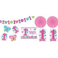 Sweet Girl 1st Birthday Room Decorating Kit 10pc