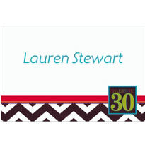 30th Celebration Custom Thank You Note
