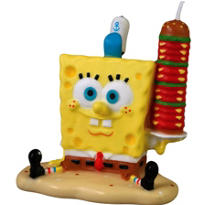 SpongeBob Birthday Candle 2 3/4in
