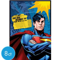 Superman Favor Bags 8ct
