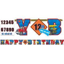 Tonka Truck Birthday Banner