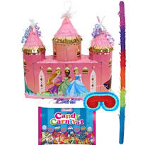 Pull String Disney Princess Castle Pinata Kit