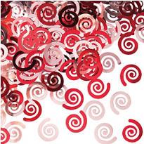 Red Swirl Confetti