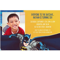 Batman Core Custom Photo Invitation