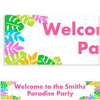 Palm Leaf Custom Banner
