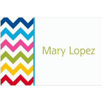 Bright Chevron Custom Thank You Note