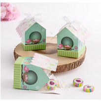 Bird House Baby Shower Favor Boxes 24ct